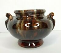 "Brown Drip Glaze Vase Urn Vintage McCoy Style Art Pottery 6""Tall NO Chips/Cracks"