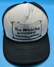 THE WICHITA LINEMEN vintage black / beige adjustable snapback cap / hat