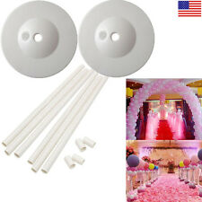 Set 2 Balloon Column Arch Base Upright Pole Display Stand Kit For Wedding Party