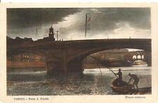 FIRENZE  -  Ponte S. Trinità - Pesca notturna