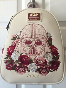 Loungefly Star Wars Darth Vader Embroidered Flowers Floral Mini Backpack Bag NEW