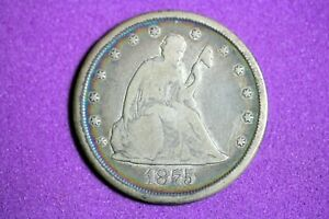 ESTATE FIND 1875 CC Seated Liberty Twenty Cent #M6064