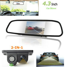 "4.3"" Car Reverse Rear View Mirror Monitor + 2 in1 CCD Camera & Radar Sensor Kits"