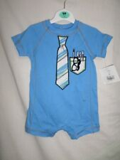 Starting Out Boys Sky Blue 100% Cotton Playsuit Size 6 Months