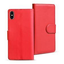 Book Case Apple IPHONE x Case Flip Case Phone Cover Flip Cover in Red