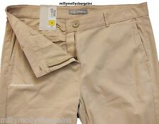 New Womens Marks & Spencer Beige Chino Trousers Size 12 LABEL FAULT