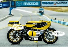 "24"" X 30"" High Definition PHOTOGRAPH Poster Kenny Roberts 1980 Yamaha Right"
