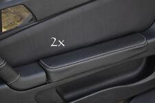 Se adapta a Alfa Romeo Gtv Cuero 2x Puerta Apoyabrazos cubre Blanco
