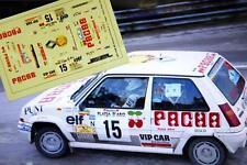 "DECAL CALCA 1/43 RENAULT 5 GT TURBO ""PACHA"" E. XARGAY RALLY PLATJA D'ARO 1988"