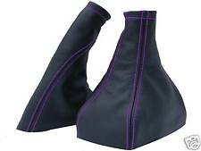 FITS VECTRA B PURPLE STITCH LEATHER SET OF GAITERS NEW