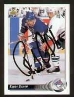Randy Gilhen signed autograph auto 1992-93 UD Hockey Trading Card