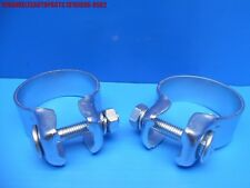 1986-1995 PORSCHE 928 S S4 GT GTS EXHAUST CATALYST TO CENTER MUFFLER CLAMPS PAIR
