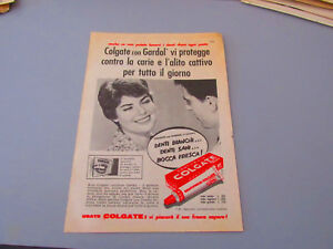 Pubblicità su pagina originale anni 50/60 Advertising vintage COLGATE