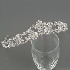 Gorgeous Clear Austrian Crystal Rhinestone Tiara Crown Bridal Party Pageant 9911
