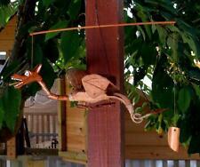 WOODEN NODDING DRAGON MOBILE Coconut Husk Bali Carving Wood