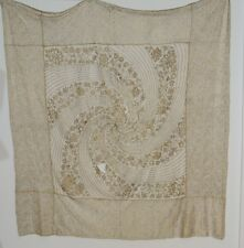 1930's Metallic Gold Lace / Gold Embroidered Shawl / Wrap