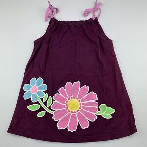 Girls size 2, Hannah Anderson, dark purple cotton casual summer dress, EUC