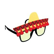 Novelty Mexican Bandit Cowboy Fiesta Sombrero Sunglasses Festival Glasses Party