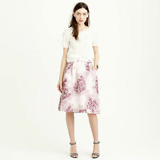 NWT $350 J.Crew COLLECTION CIRCLE SKIRT IN MISTY HYDRANGEA Size 2