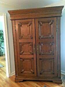 Solid Carved Wood Legacy Country French Armoire