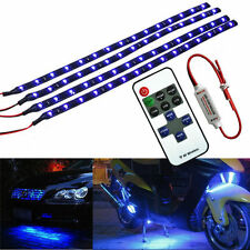 """12"""" 30CM Wireless Remote Control Motorcycle Blue 15LED Light Strip Kit For BMW"""