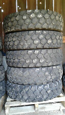 "Set of 5 Michelin XZL 9.00R16 offroad tires, ""slightly used"""