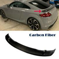 For Audi TT TT S TT RS Coupe 15-18 Rear Trunk Spoiler Racing Wing Carbon Fiber