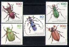 Germany**INSECTS-BEETLES-5vals-Below FACE-Cat 12€-1993-INSECTES-Insekten-Kevers