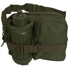 Tactical Waist Bag Belt Pack Hip Pouch With Canteen Travel Trekking Hiking Olive