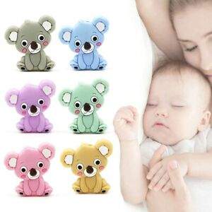 Baby Chewing Toys Silicone Teether Panda Beads Pacifier DIY Training Massager Ma