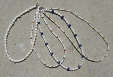 FRESHWATER PEARL NECKLACES, GENUINE SWAROVSKI CRYSTAL, NATURAL STONE, LOT OF 4
