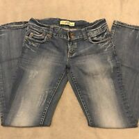 587 Denim Womens Size 28 Bootcut Jeans High Rise Two Buttons Faded Blue