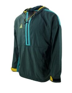 Nike ACG Woven Hooded Jacket Atomic Teal Yellow 931907-375 Men's NWT