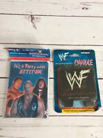 Vintage 1999 WWF Wrestling Candle And Birthday Cards NEW