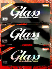 3 x Glass King Size Long Papers / Durchsichtige/Transparente/Cellulose/ 100%BIO