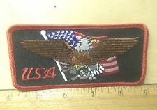 New listing Us Flag and Eagle Embroidered Patch