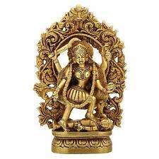 Brass Idol Maa Kali Durga Parvati Power Mother Hinduism India Shiva Statue Gift