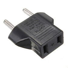 US To EU Travel AC Power Socket Plug Adapter Adaptor Converter 2 Pin