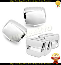 For 2006-2014 Honda Ridgeline Chrome 2pcs FULL Mirrors+4DR Handle Covers 12 13