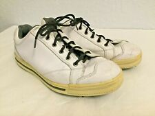 FootJoy Street Golf Shoes Men's Size 10 Med White Leather Cleats Style 010720
