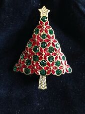 Swarovski Christmas Tree Pin Brooch Signed - BEAUTIFUL! - New