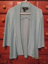 Womens PECK & PECK Collection Pastel Green Knit Stretch Sweater Sz L Nw/oTag