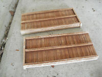 Lot of 2 Plaster HO Scale boardwalk Panels Look