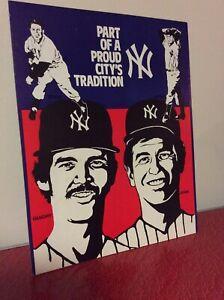 VTG Yankees 1970 Ron Guidry Lopat Ford John poster  Pitcher MLB Baseball NY Rare