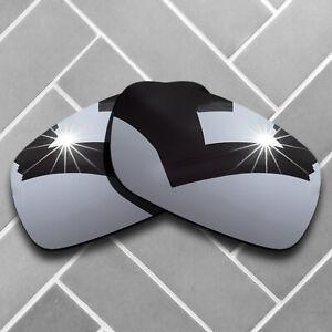 Silver Chrome Mirrored Replacement Lense for-Oakley Crankshaft Polarized