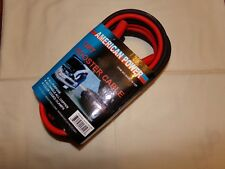american power 12 foot battery cable booster all copper color coded clamp new