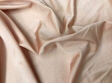 "Solid Light Peach Lycra Spandex Fabric 4-Way Stretch Fabric By The Yard 62"" Wide"