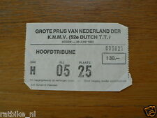 1982 TICKET DUTCH TT ASSEN 1982 GRAND PRIX,MOTO GP
