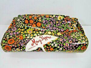 VINTAGE RARE 1960'S WALT DISNEY MARY POPPINS RETRO FLORAL VINYL CLUTCH PURSE