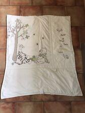 Winnie the pooh Cot Bed Set: Quilt, Bumper & Fleece Blanket (cream & green)